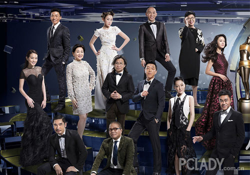 第34届香港金像奖候选人海报合影出炉