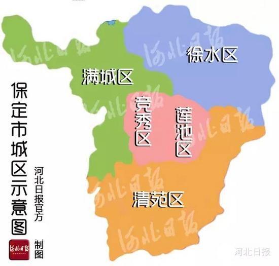 保定:市区人口全省第三 面积全省第二