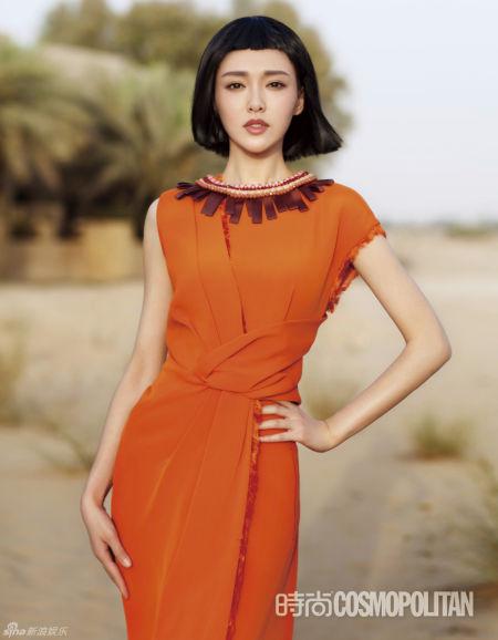 唐嫣釋放東方風情復古俏麗打扮性感迷人