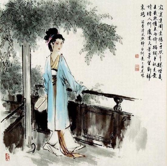 带蝶恋花的古风图片素材李清照
