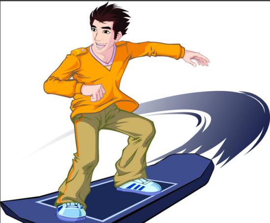 免费教你玩滑板