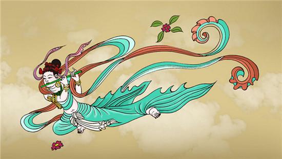 敦煌佛教壁画中的飞天