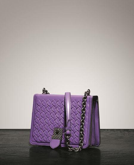 BOTTEGA VENETA 拜占庭紫肩背包