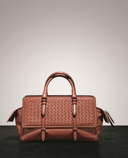 BOTTEGA VENETA 铁锈红中号Monaco手袋