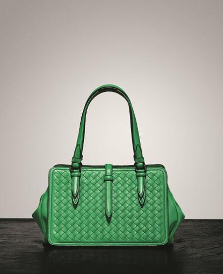 BOTTEGA VENETA 爱尔兰绿手提包