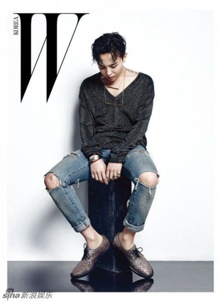 BIGBANG权志龙黑发写真变身霸道总裁
