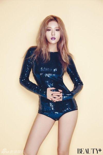 韩女星泫雅性感写真高叉连体衣尽显美腿