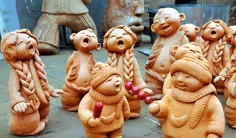 陶瓷泥塑动物作品