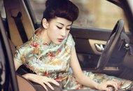 旗袍美女与汽车的绝美合影