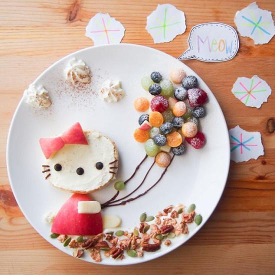 """馬來西亞媽媽為女兒做""""童話餐"""""""
