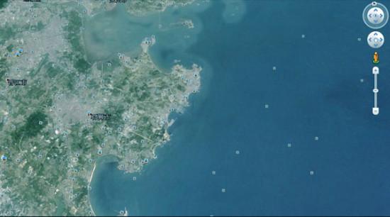 治理后海洋区域卫星图