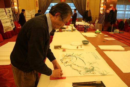 天运联辉集团协办的迎春书画联谊会在中武大厦成功举办