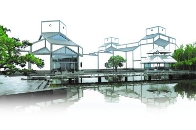 苏州博物馆新馆,著名建筑师贝聿铭作品.光明图片