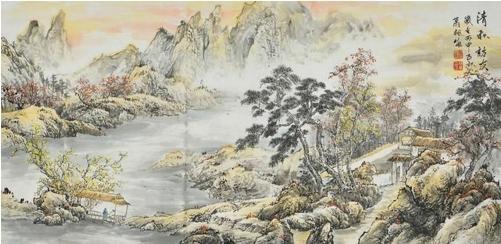 西方传统的风景画是以透视学的原理去处理自然景物的空间关系,而中国
