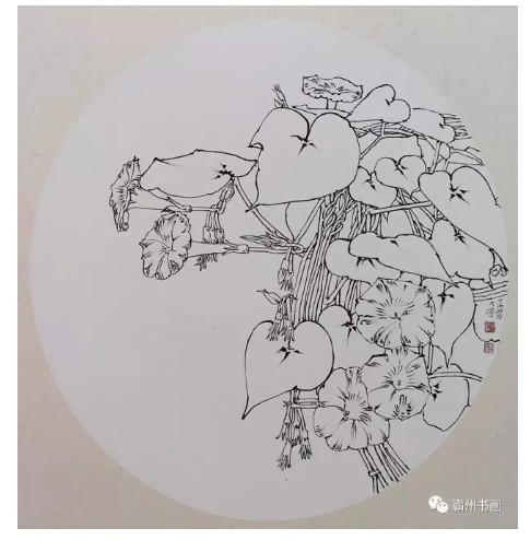 家门口的写生——姚占芳花卉线描精品展 开幕式剪影及