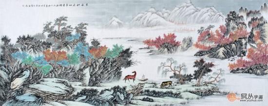 (四),室内墙壁装饰画之四季和谐 时来运转 增加贵人运 风水画作品