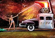 超性感洋美女与经典车