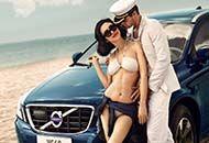 美艳车模沙滩边的艳遇