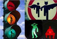 全球雷人路标和红绿灯
