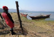抚仙湖水位低于警戒线