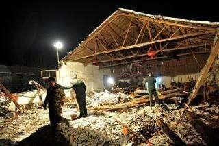 实拍浙江婚礼现场坍塌7人死98人伤